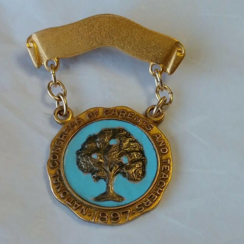 National Congress of Parents And Teachers 1897 PTA Lapel Pin Tree Design