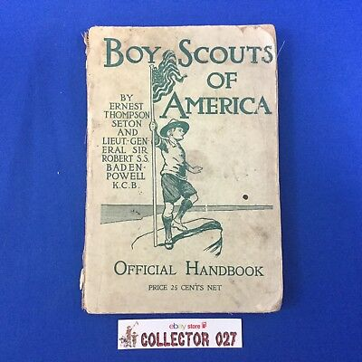 Boy Scout Book Original 1910 Official Handbook Ernest T. Seton & Baden Powell