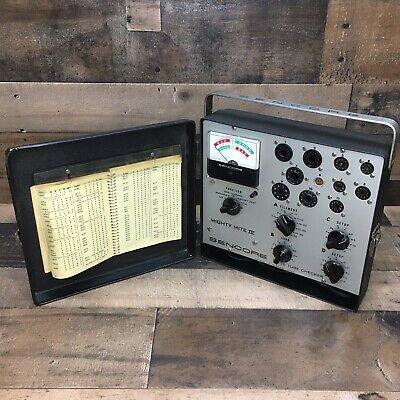 Vintage Sencore Tc136 Mity-mite Vacuum Tube Checker Tester Original Manual