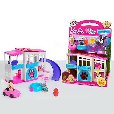 Barbie: Dreamhouse Adventures - 2-Sided Pets Playset by Just Play
