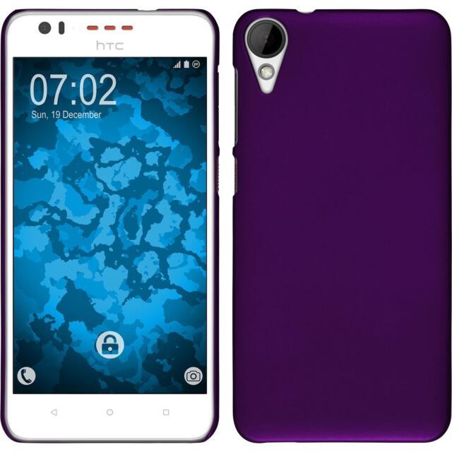 Hardcase HTC Desire 825 rubberized purple Cover + protective foils