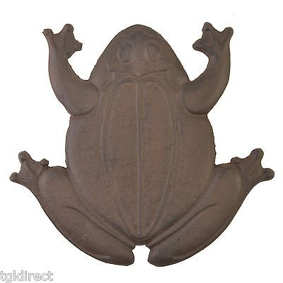 Decorative Frog Stepping Stone Cast Iron Yard Garden Rust Brown Flagstone Step