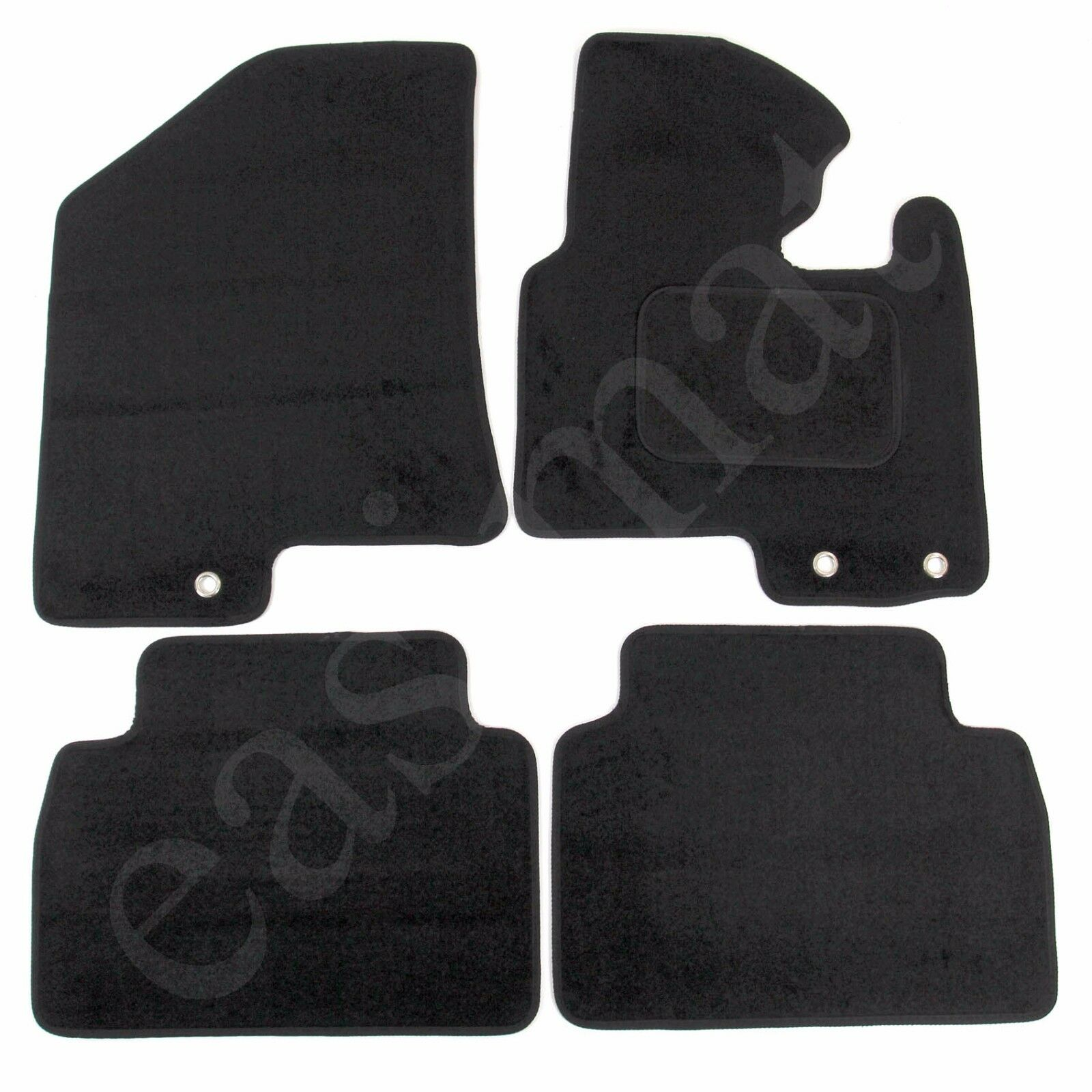 Car Parts - Fits Kia Sportage MK3 2010-2016 Tailored Carpet Car Mats Black 4pcs Floor Set