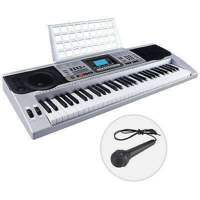 61 Key Music Electronic Keyboard Touch Sensitive Piano Organ with Microphone b2077942d9c7a