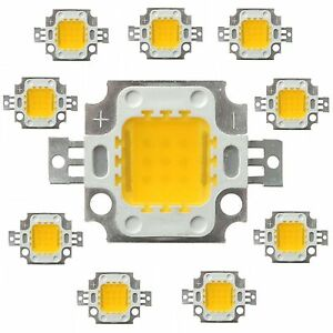 10pcs-10W-Warm-White-High-Power-800-900LM-LED-light-Lamp-SMD-Chip-DC-9-6-10-2V