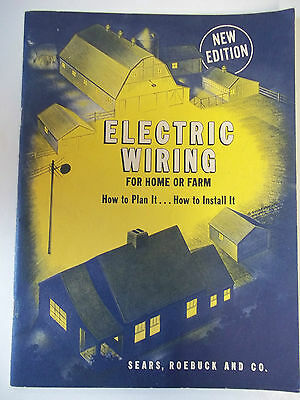 Vintage Electric Wiring for Home of Farm,Basic Wiring installation 194 Sears