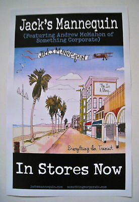 Jack's Mannequin *Everything in Transit Poster RARE Andrew McMahon People Things