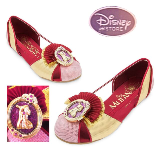 Disney Deluxe Mulan Costume Dress up Girls Shoes Sz 9/10 | eBay