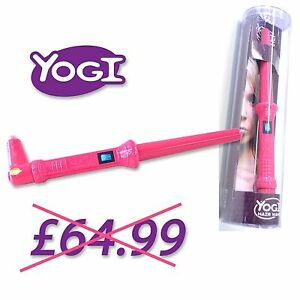 ORIGINAL YOGI TOURMALINE HAIR STYLING WAND CURLING TONGS IRONS HIGH  GLOSS PINK
