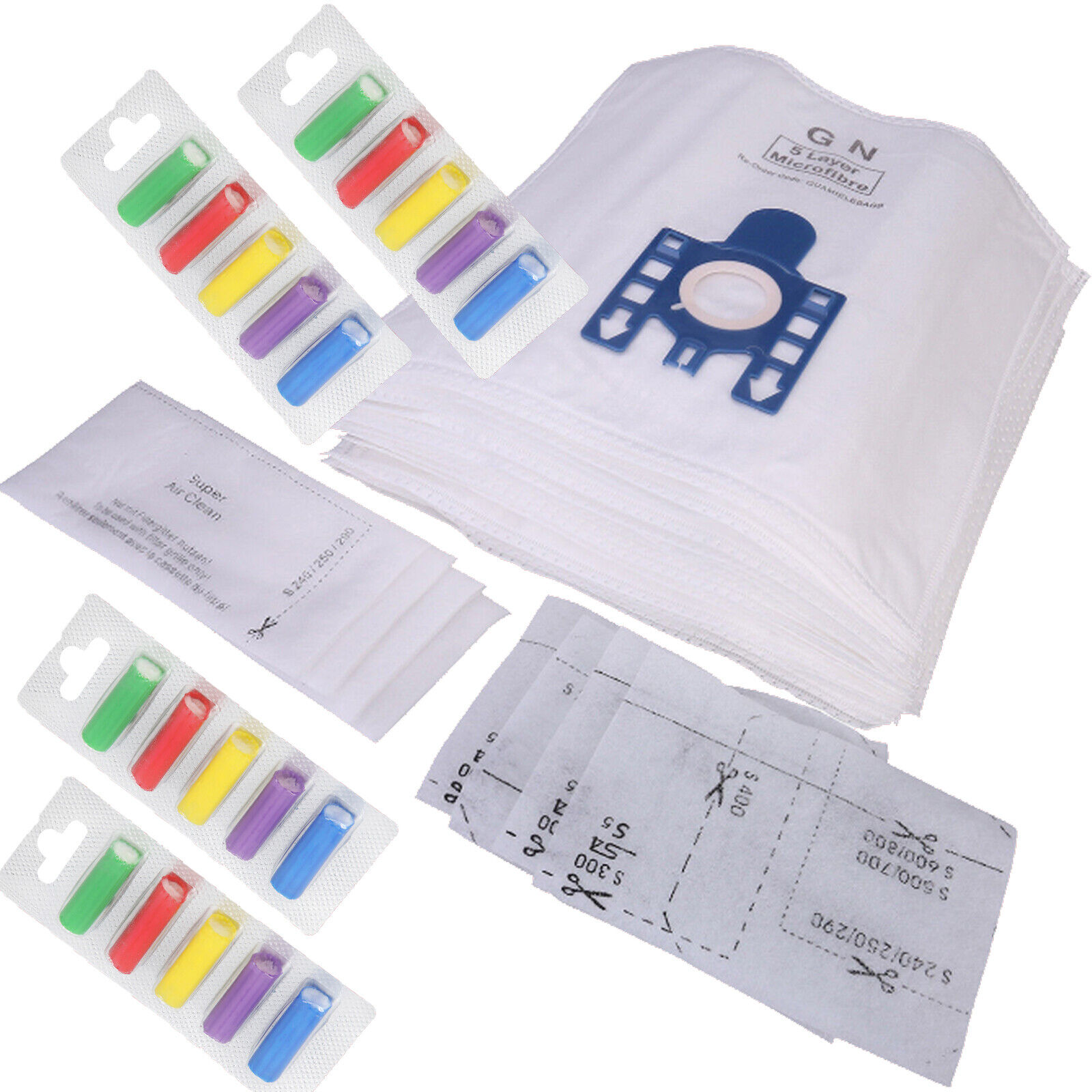 20 FJM Microfibre Vacuum Bags For Miele Compact 20 FREE Fresheners 4 Filters