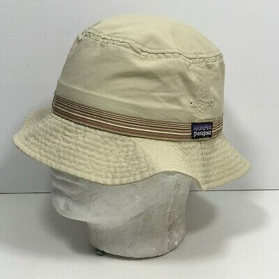 Patagonia Packable Soft Bucket Hat Cap Adult Size Small Tan Floppy Travel -