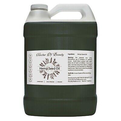 Hemp oil organic bulk 100% natural raw topical pain 1 Gallon skin care carrier