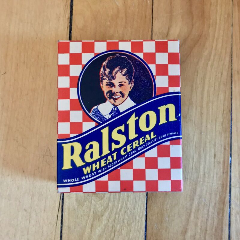 Vintage Ralston Wheat Cereal Empty Box 1940s? Purina St. Louis Missouri Antique