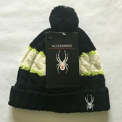 Spyder Kyd Boy's Bug Band Hat Green Black White  Spyder Boys Bugs