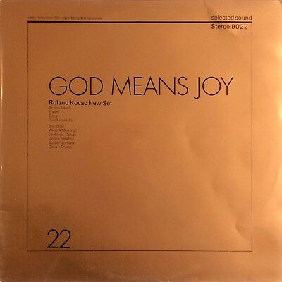 Roland Kovac New Set ‎– God Means Joy 1972 Selected Sound 9022 LIBRARY JAZZ LP