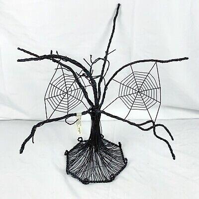 Hallmark Halloween Ornament Wire Tree Hauntington Collection Retired Spiderweb