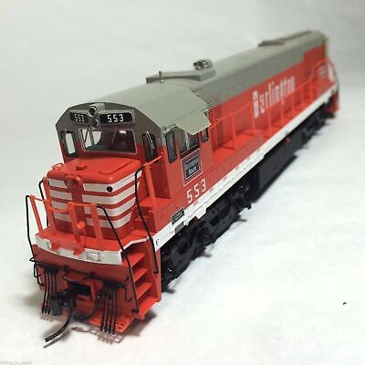 Korea Brass HO 1/87 Scale GE U25C U252014 CB&Q #553 DC only Detailed Model Train