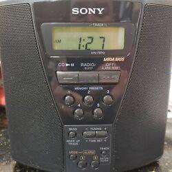 Sony ICF-CD833 AM/FM/CD Alarm Clock Radio w/Mega Bass WORKS GREAT!