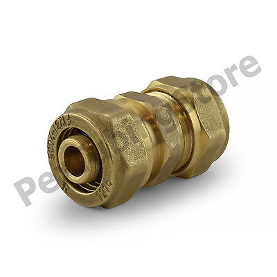 "1/2"" PEX-AL-PEX Compression Brass Coupling Fitting"
