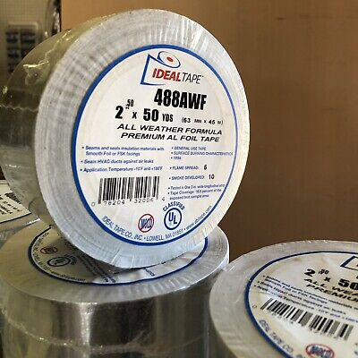 Aluminum Tape Electrical Tape 488awf 2.50x 150ft All Weather Formula Premium