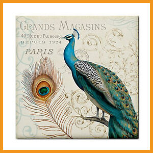 Grand Peacock Print Home Bathroom Decor Ceramic Tile BBQ