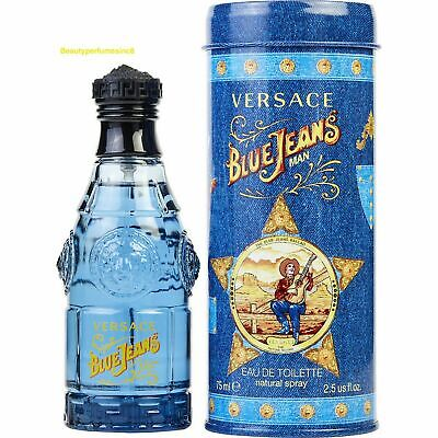 Blue Jeans by Gianni Versace 2.5 oz EDT Cologne for Men New In Box.