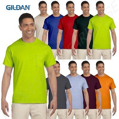 Gildan Men's Short Sleeves Ultra Cotton 6 oz Pocket S-XL T-Shirt M-G230