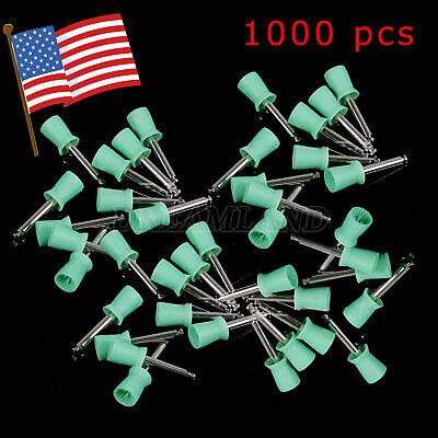 1-10packs Dental Polishing Cups Rubber Polisher Webbed Soft Latch Green Cup Usa