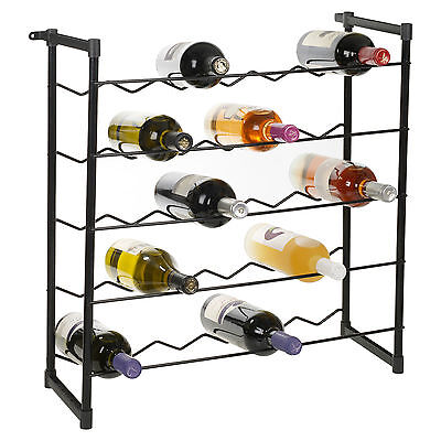 Metal Wire Wine Rack (Stackable Wine Rack 30 or 60 Bottles Champagne Bar Accessory Metal Free Standing )