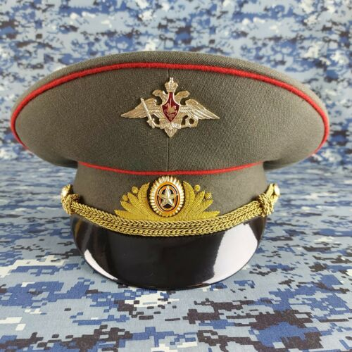 New Soviet Russian GENERAL Military Hat Army Peaked Cap Low Tide Visor