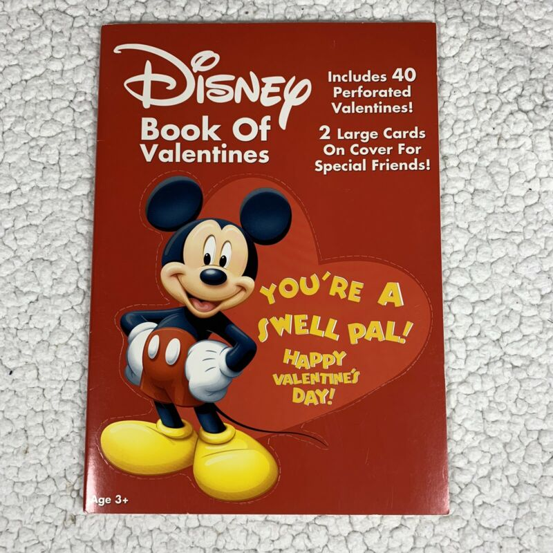 Disney Mickey Mouse Valentine Cards Book 40 Minnie mouse Goofy Donald Duck Cards
