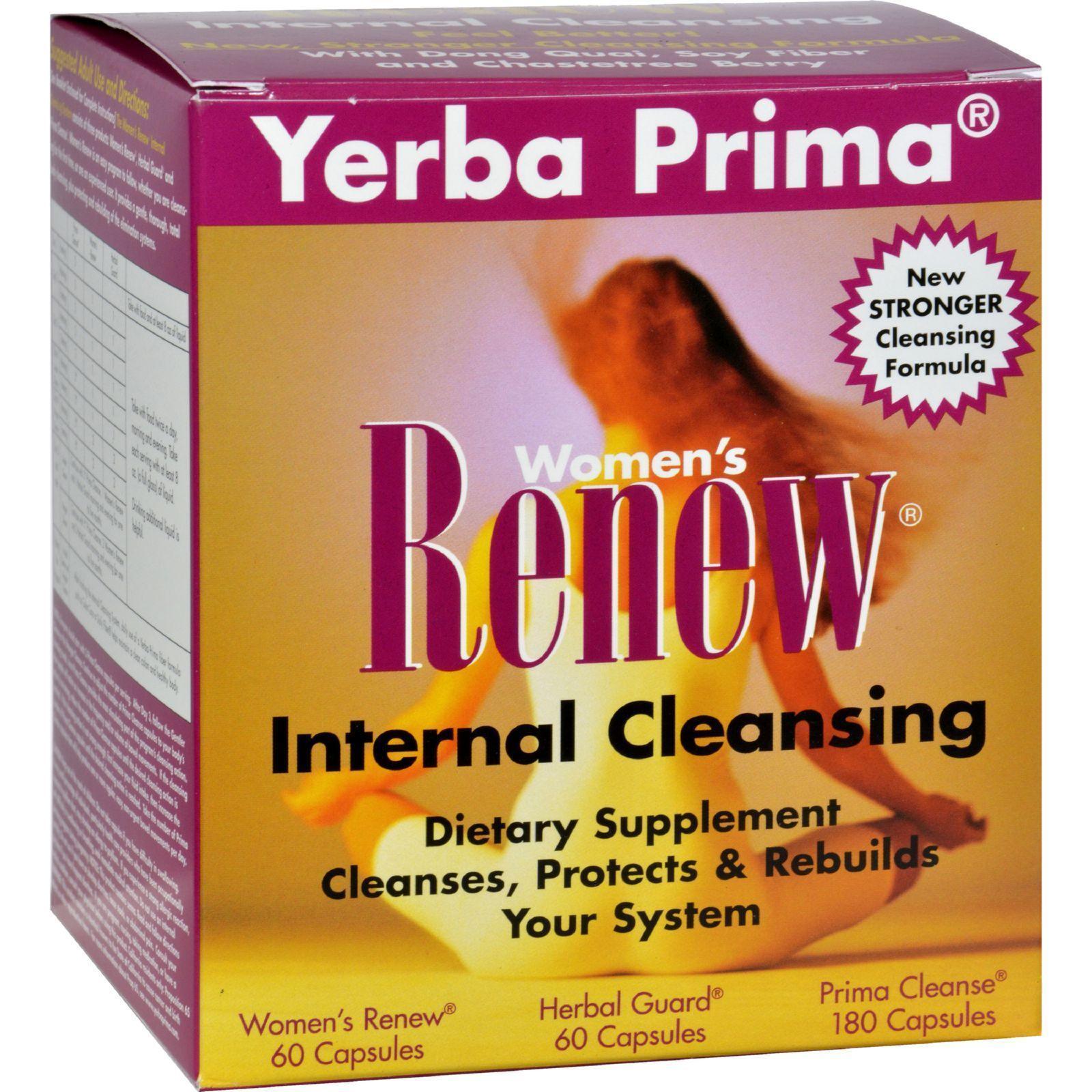 Yerba Prima Women's RENEW Internal Cleansing 3-in-1 Kit