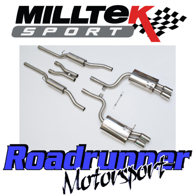 Milltek Audi S4 B7 Exhaust System Stainless Cat Back Resonated Quieter SSXAU046