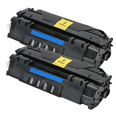 2 Pack Q7553A Laser Toner for HP Laserjet P2015, P2015dn, M2727 Series