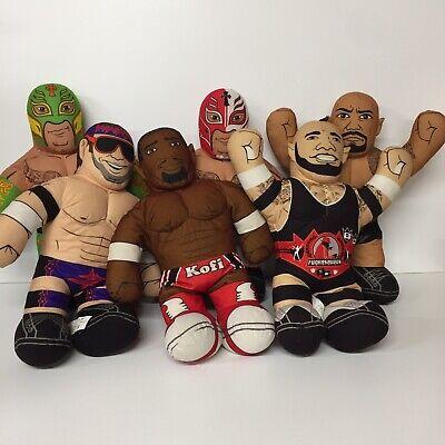 WWE Brawlin Buddies Lot Of 6 Kofi Rey Mysterio Rock Talking Wrestler