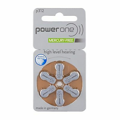 30 x Varta Power One Hörgerätebatterien P312 PowerOne PR41 5 Blister