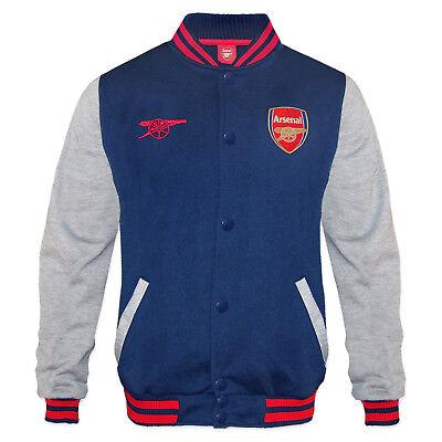 Arsenal FC Official Gift Boys Retro Varsity Baseball Jacket Navy 10-11 Years LB