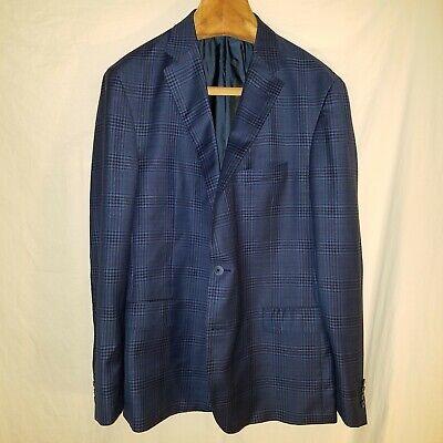Samuelsohn Ermenegildo Zegna Shang Check Sport Coat Jacket Blazer 46L 45L 44L