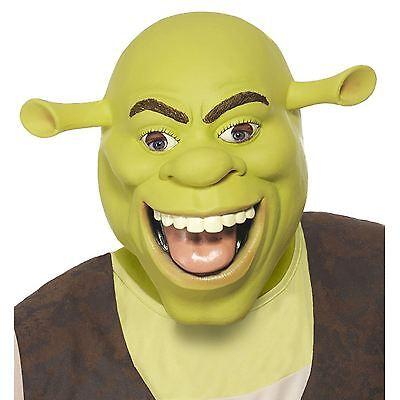 New Adult Licensed Shrek Mask Ogre Latex Full Head Fancy Dress Costume - Shrek Mask Halloween