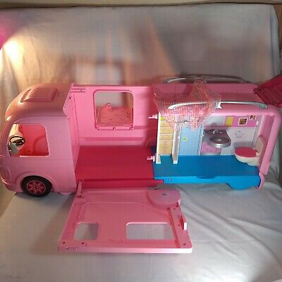Mattel Barbie Dream Camper Pink RV Bus Home Van Motor Playset- Missing Pool +