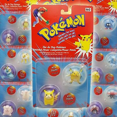 Pokemon Figuren Power Pokes mit Poke Ball & Power Scheiben Rar