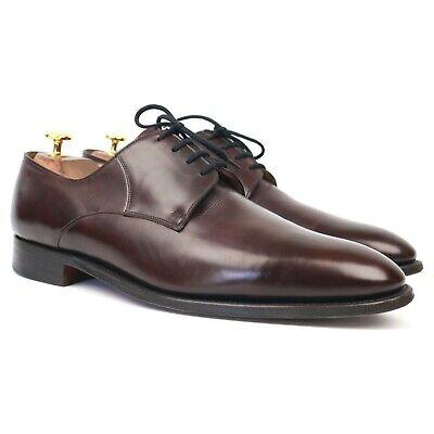 John Lobb 'Milton' Burgundy Leather Derby UK 10.5 E