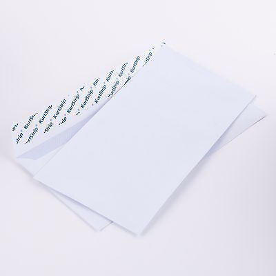 100/1000 Briefumschläge DL110x220 mm weiß 70g/m² o. Fenster haftklebend(E65.10E)