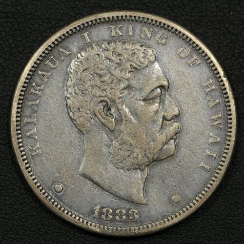 1883 Hawaii King Kalakaua Silver Dollar