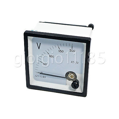 Us Stock Ac 0200v Square Analog Volt Pointer Needle Panel Meter Voltmeter Xt-72