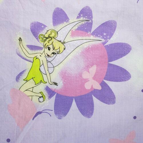 Vintage Tinkerbell Tinker Bell Fairies Disney Twin Bed Flat Sheet & Pillow Case