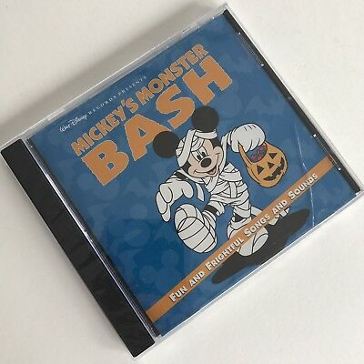 Disney Halloween Music Cd (Walt Disney Mickey's Moster Bash CD Halloween Music Sealed)