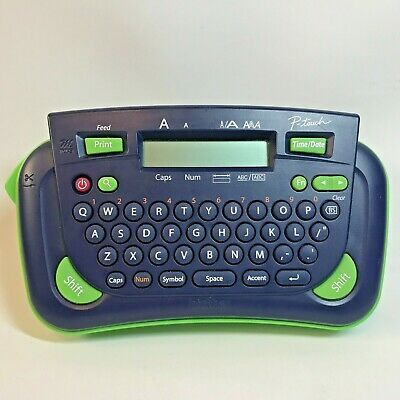 Brother P-touch Model Pt-80 Label Maker And Printer Machine Navyblue Green Works