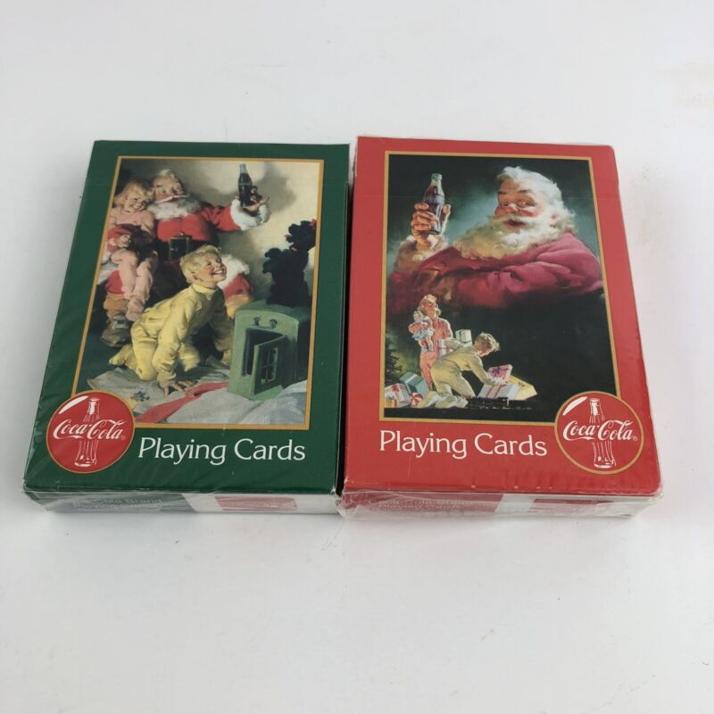 Vintage New Coca Cola Playing Cards 1996 Sealed Never Opened No. 334