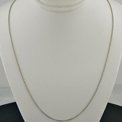 14K WHITE GOLD 1.2MM SOLID FLAT ROUND ROLO LINK PENDANT CHAIN   14k White Gold Flat Link